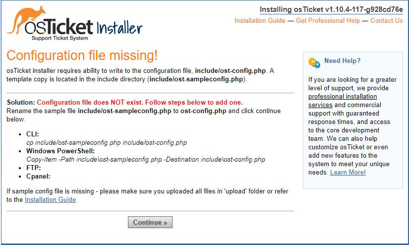 Trouble installing osTicket on Bitnami LAMP VM - osTicket Forum