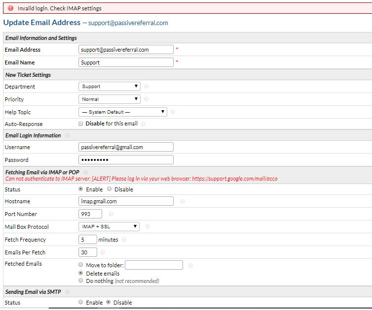 Using Microsoft 365 POP3/IMAP Not working ERROR! - osTicket
