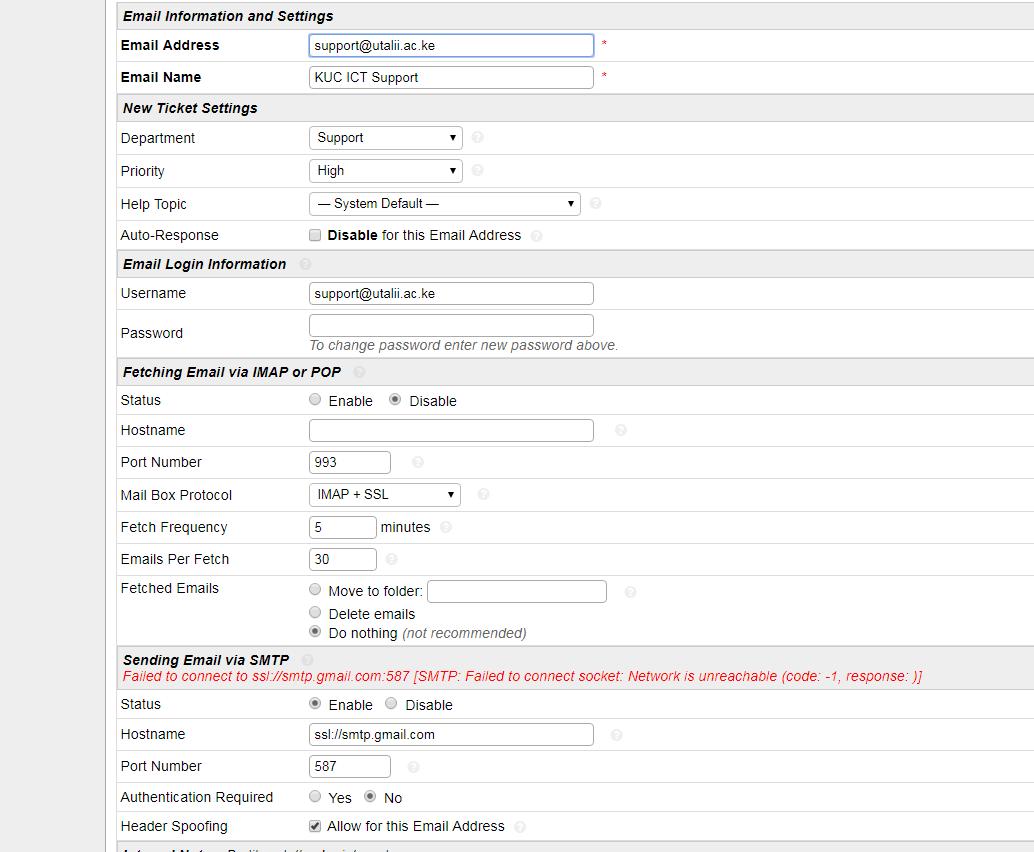 gmail server network errors