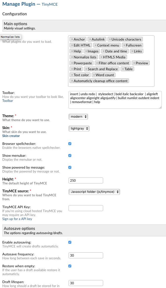 Plugin TinyMCE - osTicket Forum