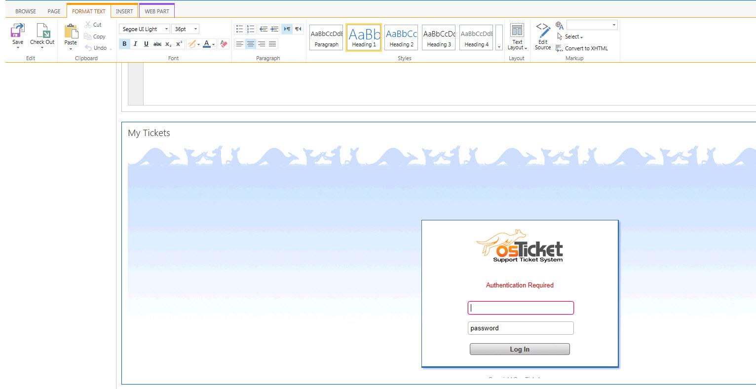 OSTicket Webpage on SharePoint - osTicket Forum