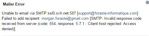 SMTP with ovh - osTicket Forum